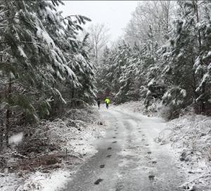 15 Mile Run in the snow and slush